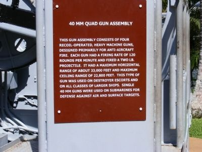 40 MM Quad Gun Assembly Marker image. Click for full size.