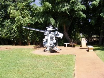 40 MM Quad Gun Assembly-Distant shot image. Click for full size.