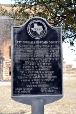 First Officials of Foard County Marker image. Click for full size.