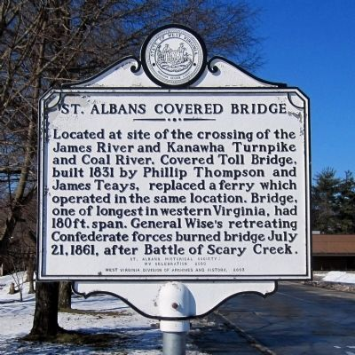 St. Albans Covered Bridge Marker image. Click for full size.