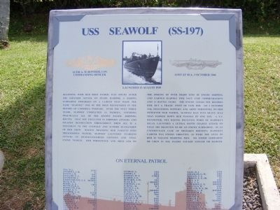 USS Seawolf (SS-197) Marker image. Click for full size.