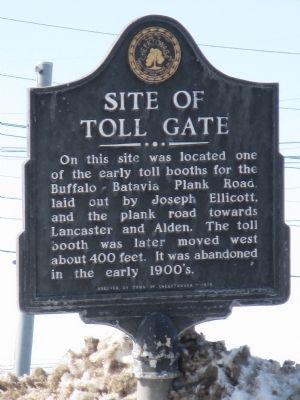 Site of Toll Gate Marker image. Click for full size.