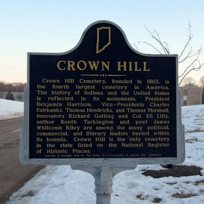 Crown Hill Marker image. Click for full size.