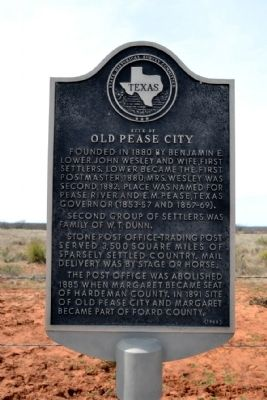 Site of Old Pease City Marker image. Click for full size.