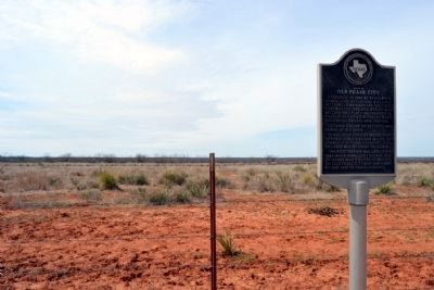 Site of Old Pease City Marker with View to the West image. Click for full size.