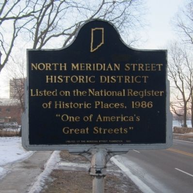 North Meridian Street Historic District Marker image. Click for full size.