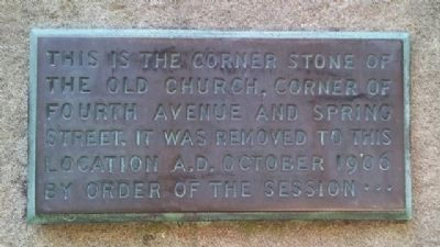 First Presbyterian Church Cornerstone Marker image. Click for full size.