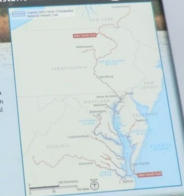 Close up of the map on the Explore the Chesapeake Marker image. Click for full size.