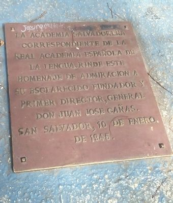 General Juan Jos� Ca�as Marker 2 image. Click for full size.