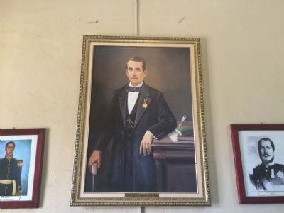 General Juan Jos� Ca�as portrait at the Miltary Museum of El Salvador image. Click for full size.