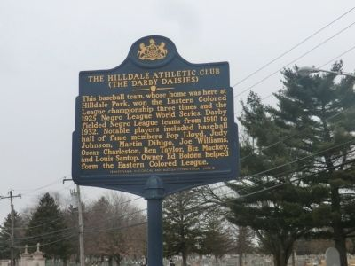 The Hilldale Athletic Club Marker image. Click for full size.