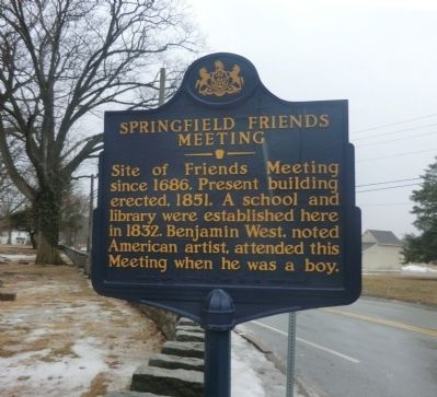 Springfield Friends Meeting Marker image. Click for full size.