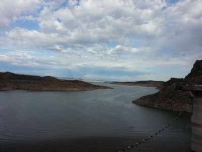 San Carlos Reservoir, March 2015 image. Click for full size.