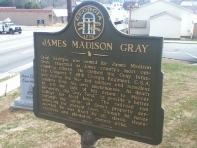 James Madison Gray Marker image. Click for full size.