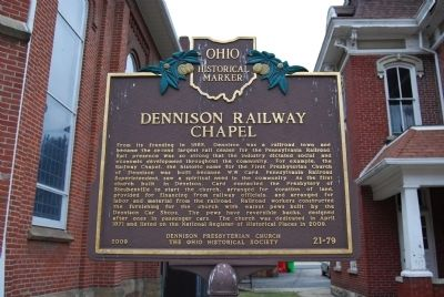 Dennison Railway Chapel Marker image. Click for full size.
