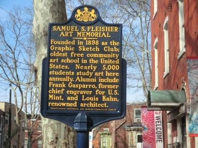 Samuel S. Fleisher Art Memorial Marker image. Click for full size.