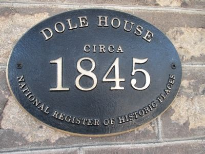 Dole House Marker image. Click for full size.