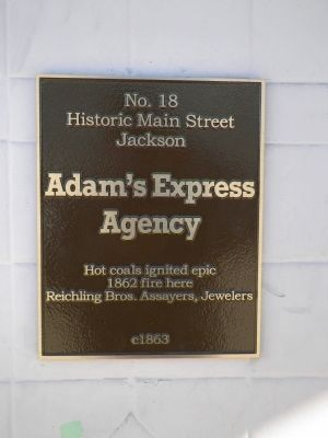 Adam's Express Agency Marker image. Click for full size.