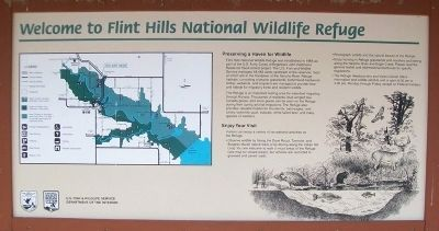 Welcome to Flint Hills National Wildlife Refuge Marker image. Click for full size.
