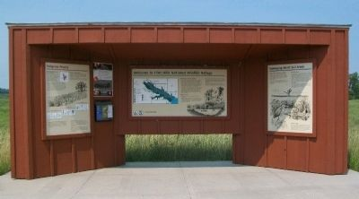 Flint Hills National Wildlife Refuge Information Kiosk image. Click for full size.