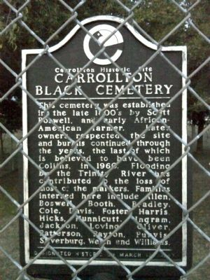 Carrollton Black Cemetery Marker image. Click for full size.