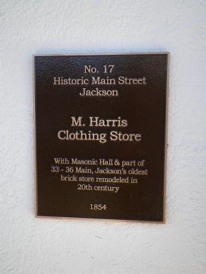 M Harris Clothing Store Marker image. Click for full size.