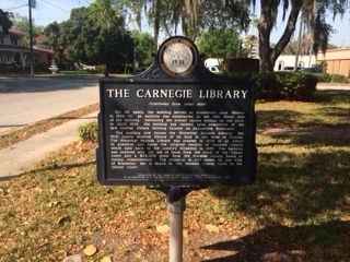 Carnegie Library Marker (side 2) image. Click for full size.