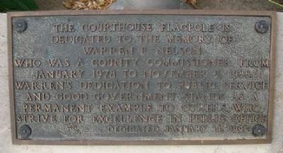 Pottawatomie County Courthouse Flagpole Marker image. Click for full size.