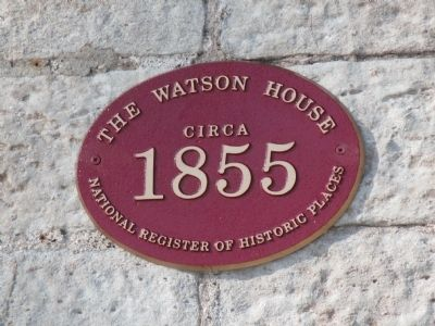 The Watson House Marker image. Click for full size.