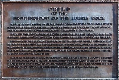 The Brotherhood of the Jungle Cock Marker image. Click for full size.