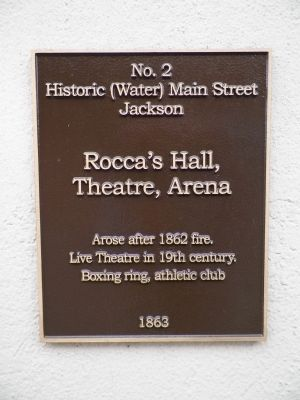 Rocca's Hall, Theatre, Arena Marker image. Click for full size.