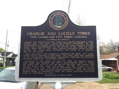 Charlie and Lucille Times Marker (Side 1) image. Click for full size.