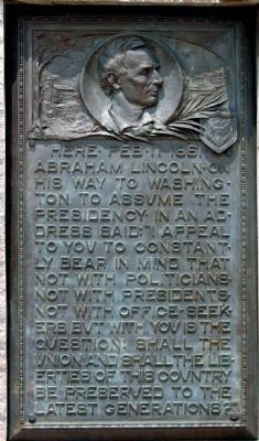 Lincoln Plaque image. Click for full size.