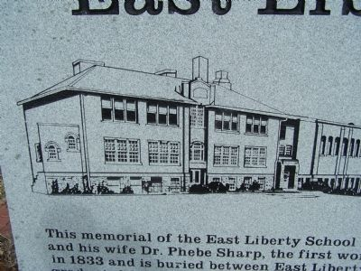 East Liberty School Marker image. Click for full size.