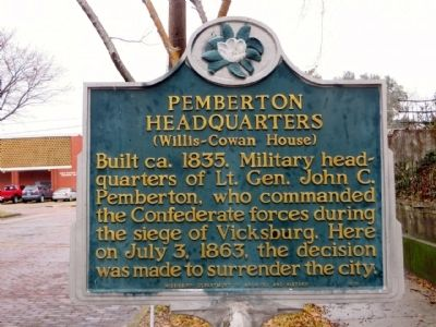 Pemberton Headquarters Marker image. Click for full size.
