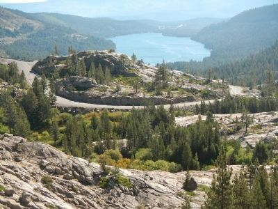 Donner Lake from Donner Summit Overview image. Click for full size.