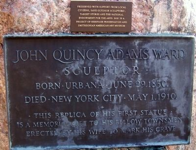 John Quincy Adams Ward Marker image. Click for full size.