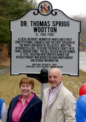 Dr. Thomas Sprigg Wootton Marker image. Click for full size.