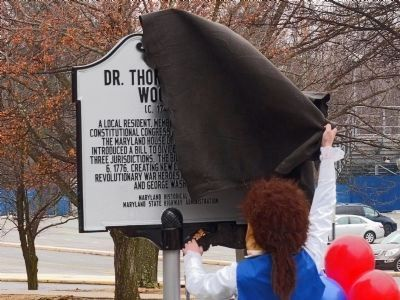 Dr. Thomas Sprigg Wootton Marker Unveiled image. Click for full size.