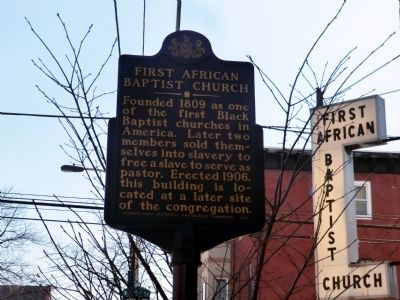 First African Baptist Church Marker image. Click for full size.