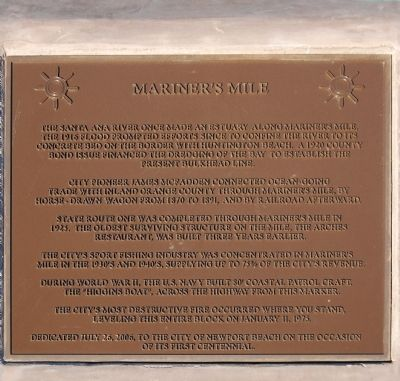 Mariner's Mile Marker image. Click for full size.