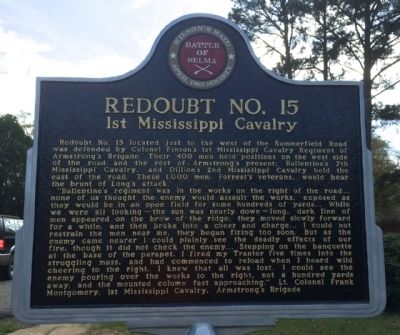 Redoubt No. 15 Marker (Front) image. Click for full size.