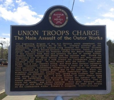 Union Troops Charge Marker (Front) image. Click for full size.