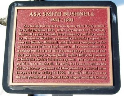 Asa Smith Bushnell Marker image. Click for full size.
