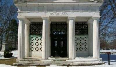 Asa Smith Bushnell Mausoleum and Marker image. Click for full size.