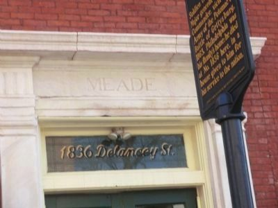 Close up of the address on the front door-George Gordon Meade image. Click for full size.