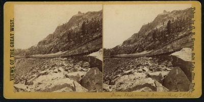 Donner Peak Snowsheds image. Click for full size.