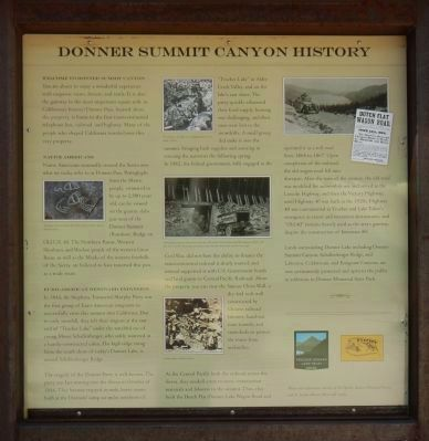 Donner Summit Canyon History Marker image. Click for full size.