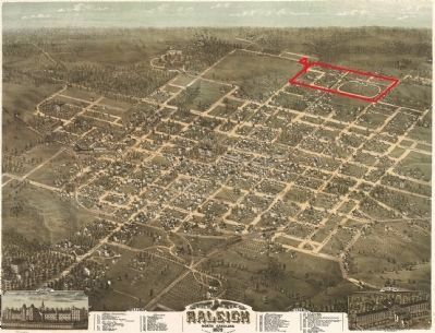 1872 Map of Raleigh, North Carolina image. Click for full size.