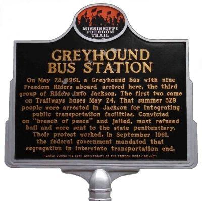 Greyhound Bus Station Historical Marker
